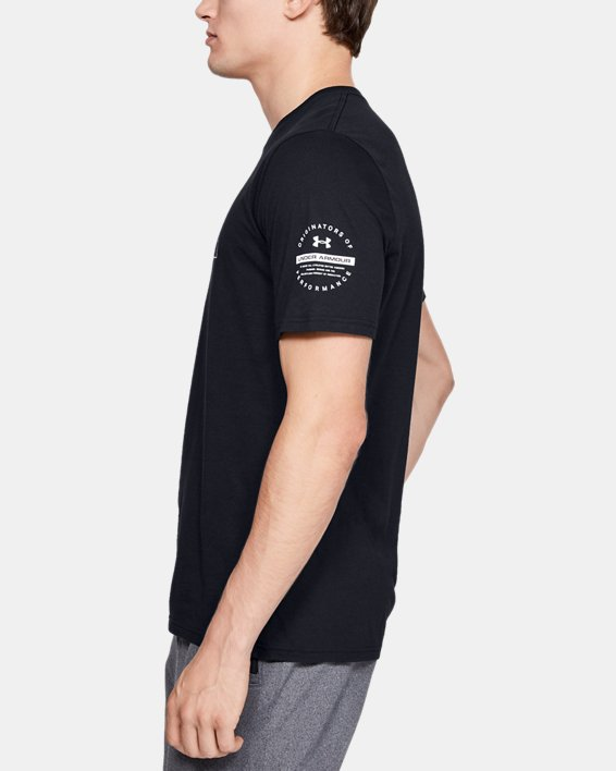 Men's UA Over Under Originators Short Sleeve, Black, pdpMainDesktop image number 3