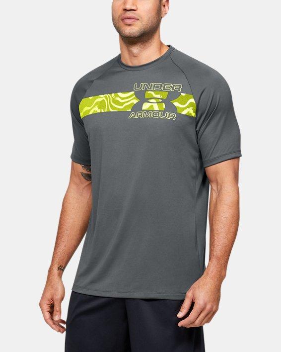 Men's UA Tech™ 2.0 Graphic Short Sleeve, Gray, pdpMainDesktop image number 0