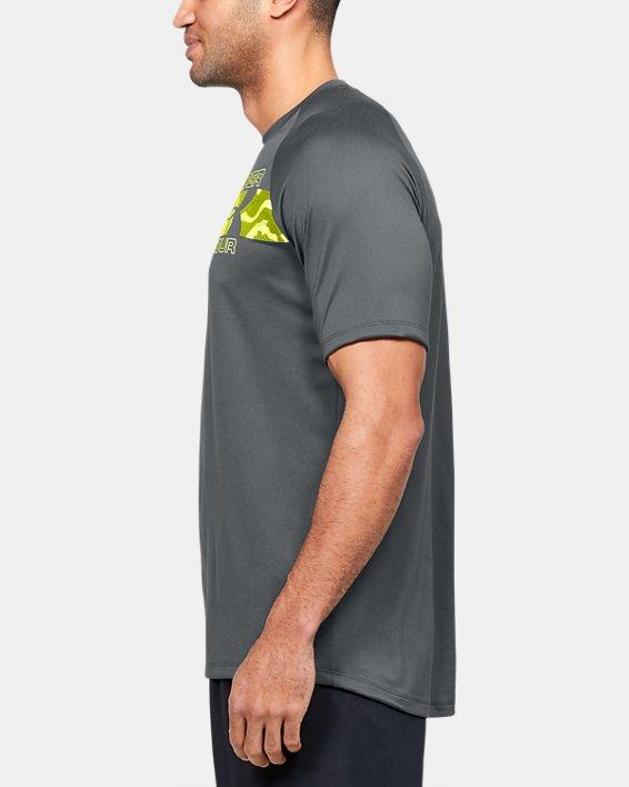 Men's UA Tech™ 2.0 Graphic Short Sleeve, Gray, pdpMainDesktop image number 3
