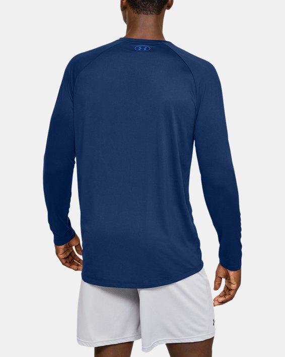 Men's UA Tech™ 2.0 Graphic Long Sleeve, Blue, pdpMainDesktop image number 2