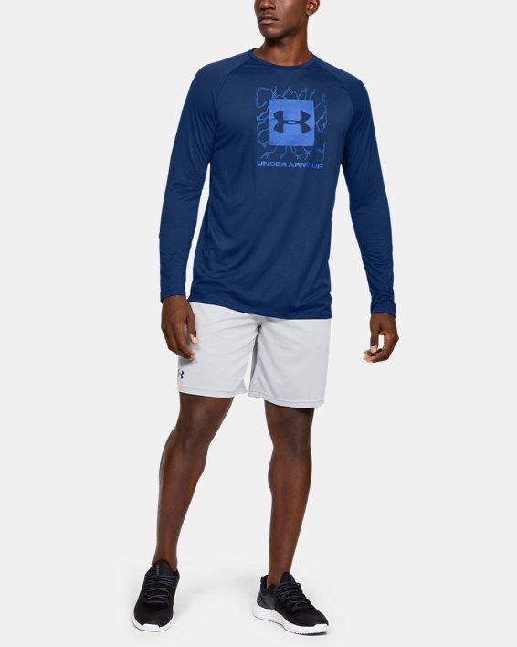 Men's UA Tech™ 2.0 Graphic Long Sleeve, Blue, pdpMainDesktop image number 1