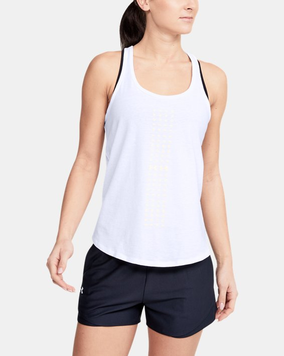 Women's UA Graphic Tank, White, pdpMainDesktop image number 0