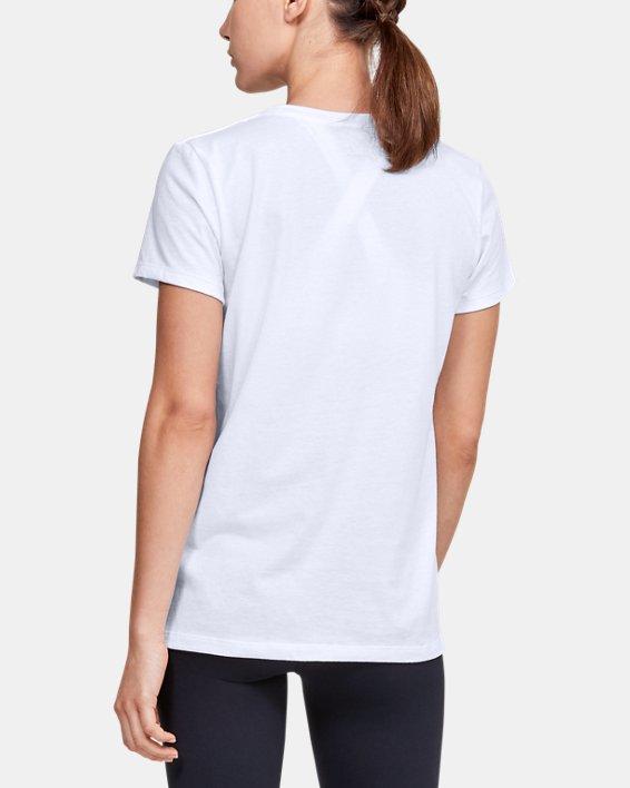 Women's UA Graphic Short Sleeve, White, pdpMainDesktop image number 2