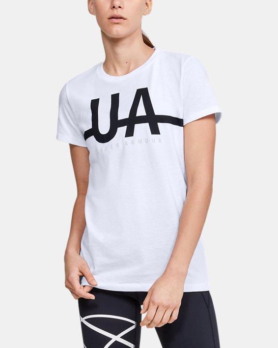Women's UA Graphic Short Sleeve, White, pdpMainDesktop image number 0