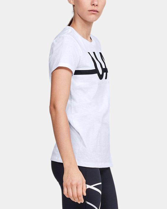 Women's UA Graphic Short Sleeve, White, pdpMainDesktop image number 3