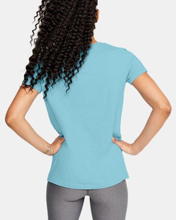 Women's UA Graphic Short Sleeve, Blue, pdpMainDesktop image number 2
