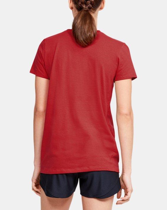 Women's UA Graphic Short Sleeve, Red, pdpMainDesktop image number 2