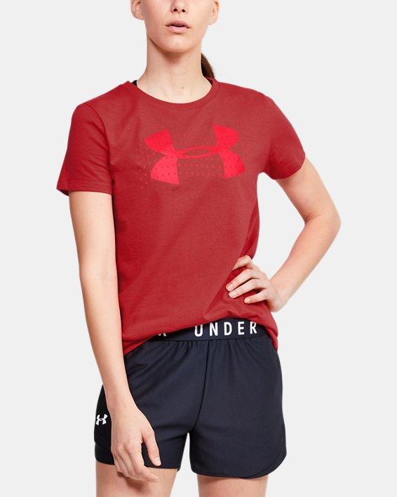 Women's UA Graphic Short Sleeve, Red, pdpMainDesktop image number 0