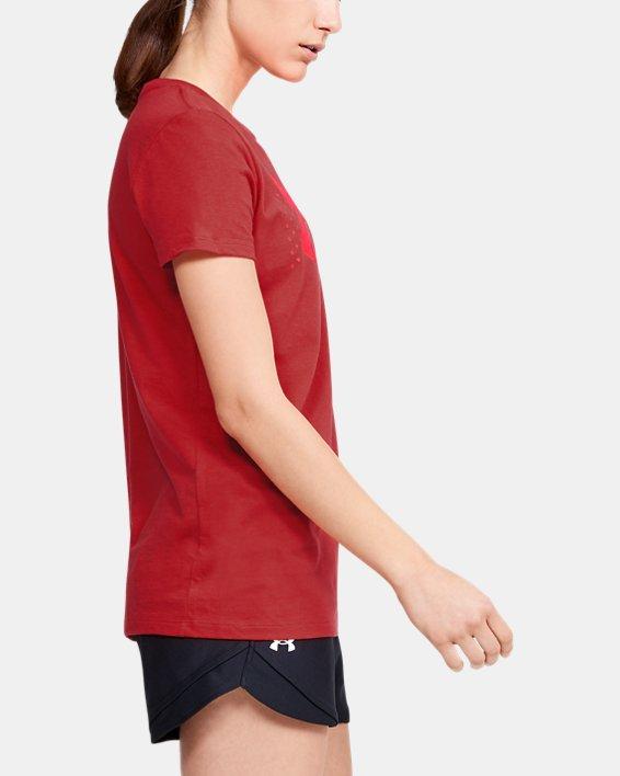 Women's UA Graphic Short Sleeve, Red, pdpMainDesktop image number 3