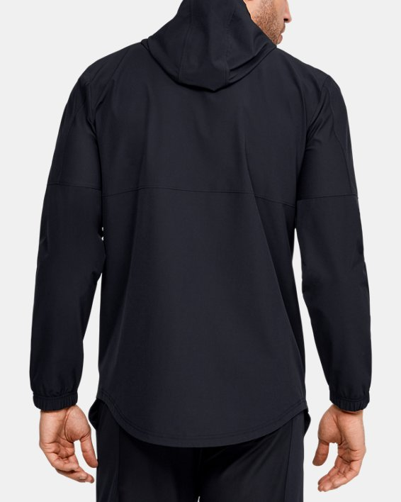 Men's UA Training Woven Jacket, Black, pdpMainDesktop image number 2