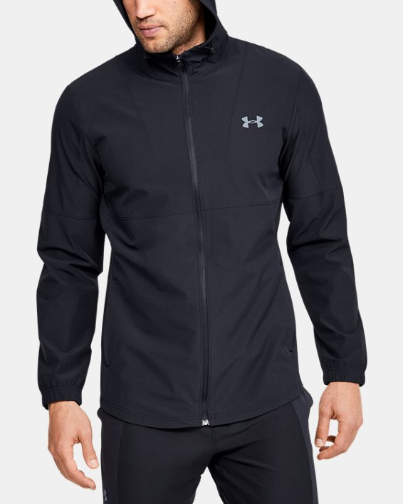 Men's UA Training Woven Jacket, Black, pdpMainDesktop image number 0