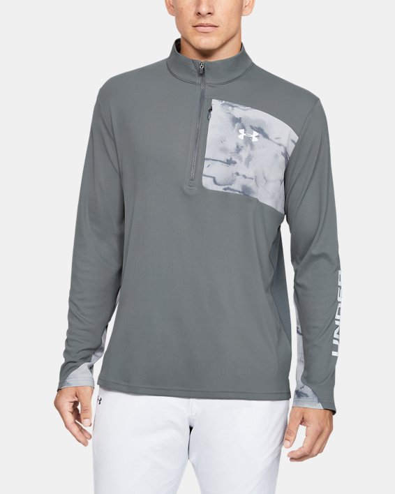 Men's UA Iso-Chill Shore Break ½ Zip, Gray, pdpMainDesktop image number 0