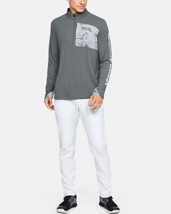 Men's UA Iso-Chill Shore Break ½ Zip, Gray, pdpMainDesktop image number 1