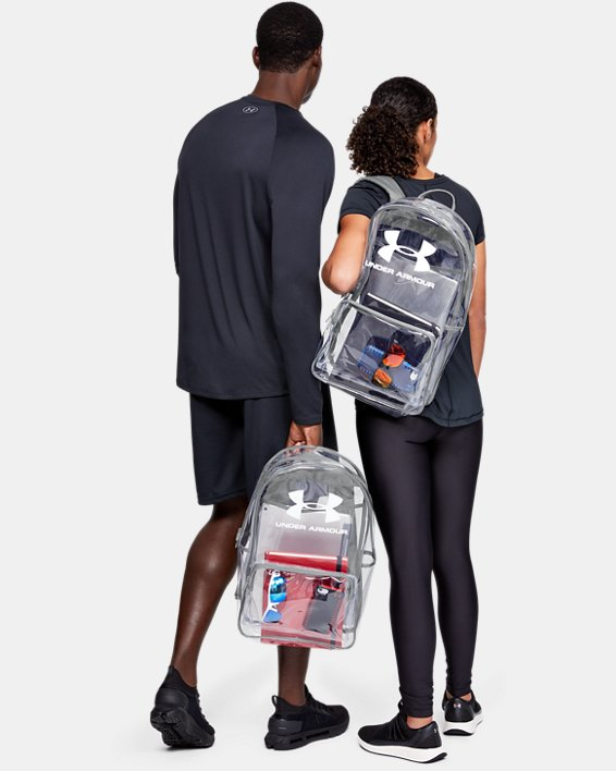 UA Clear Backpack, White, pdpMainDesktop image number 0