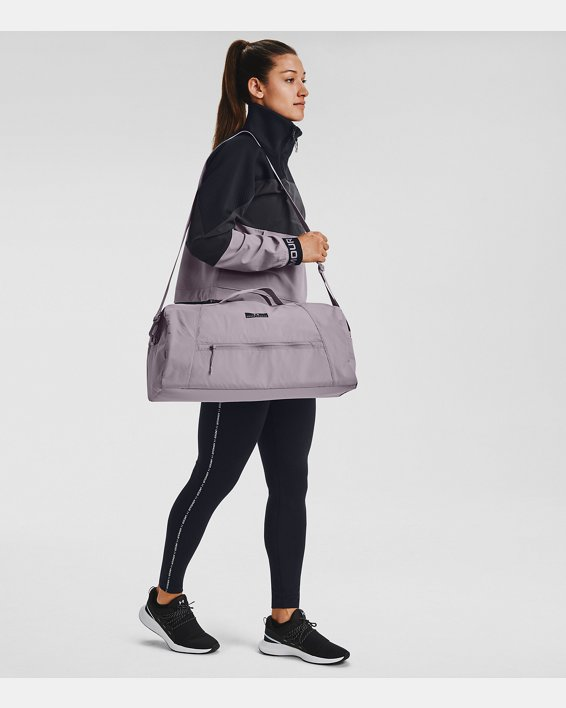 Women's UA Midi Duffle, Purple, pdpMainDesktop image number 0