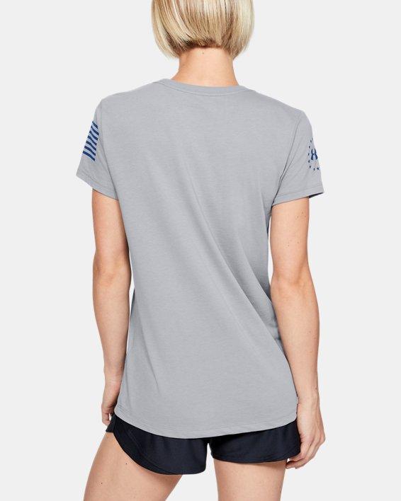 Women's UA Freedom United T-Shirt, Gray, pdpMainDesktop image number 2