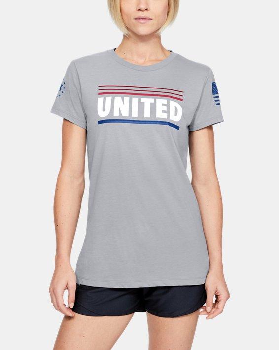 Women's UA Freedom United T-Shirt, Gray, pdpMainDesktop image number 0