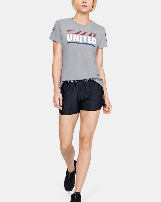 Women's UA Freedom United T-Shirt, Gray, pdpMainDesktop image number 1