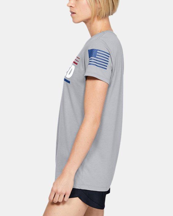 Women's UA Freedom United T-Shirt, Gray, pdpMainDesktop image number 3