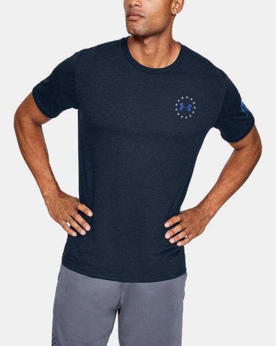 Men's UA Freedom Banner T-Shirt, Navy, pdpMainDesktop image number 2
