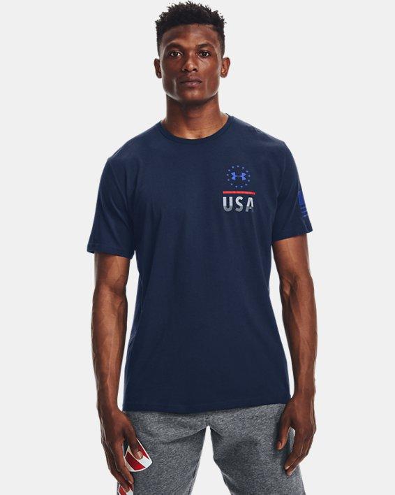 Men's UA Freedom Fierce Competitor T-Shirt, Navy, pdpMainDesktop image number 2