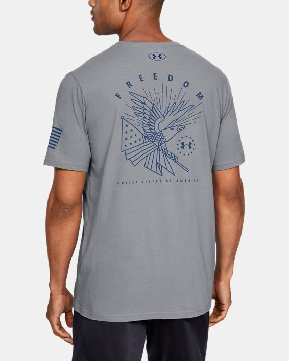Men's UA Freedom Triumphant Victory T-Shirt, Gray, pdpMainDesktop image number 0