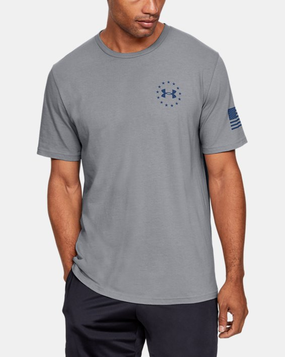 Men's UA Freedom Triumphant Victory T-Shirt, Gray, pdpMainDesktop image number 2