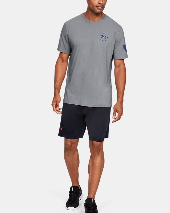 Men's UA Freedom Triumphant Victory T-Shirt, Gray, pdpMainDesktop image number 1