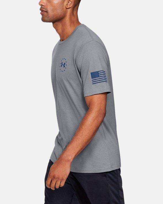 Men's UA Freedom Triumphant Victory T-Shirt, Gray, pdpMainDesktop image number 3