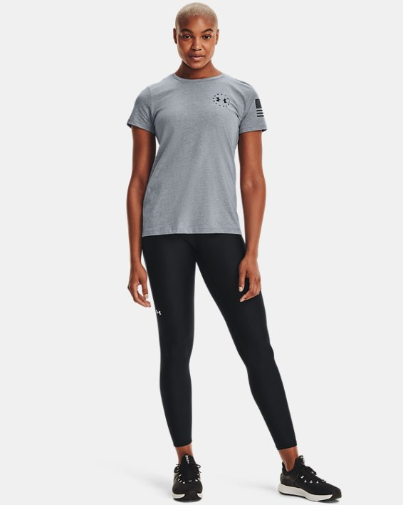 Women's UA Freedom Banner T-Shirt, Gray, pdpMainDesktop image number 1