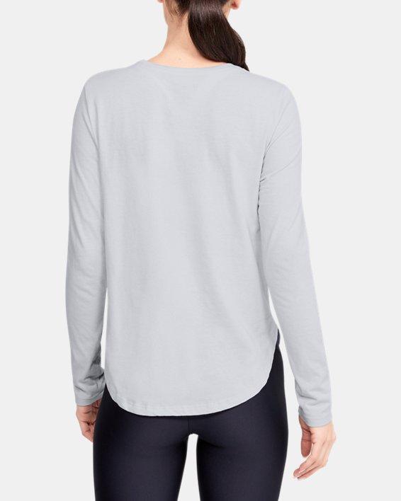 Women's UA Graphic Long Sleeve, Gray, pdpMainDesktop image number 2