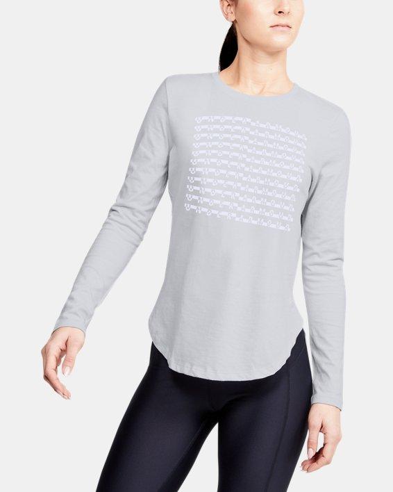 Women's UA Graphic Long Sleeve, Gray, pdpMainDesktop image number 0