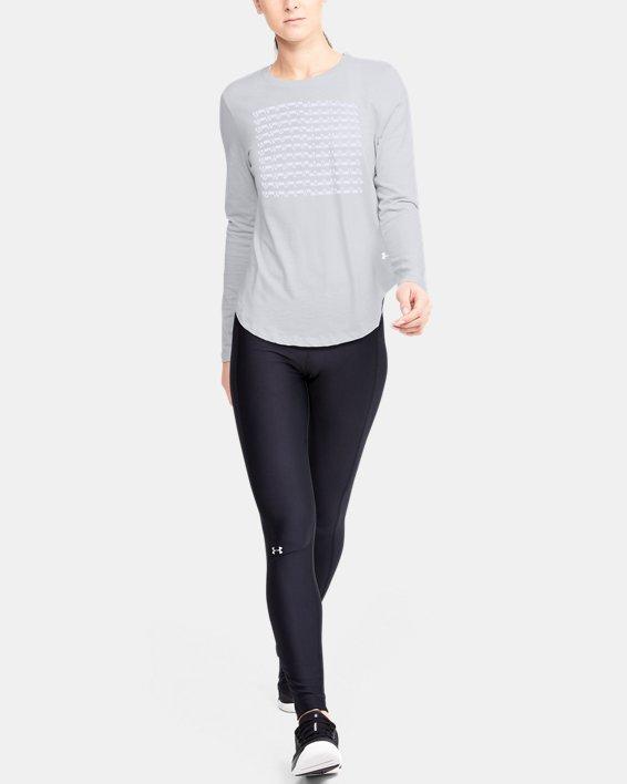 Women's UA Graphic Long Sleeve, Gray, pdpMainDesktop image number 1