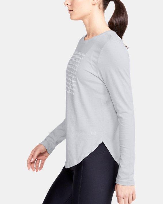 Women's UA Graphic Long Sleeve, Gray, pdpMainDesktop image number 3