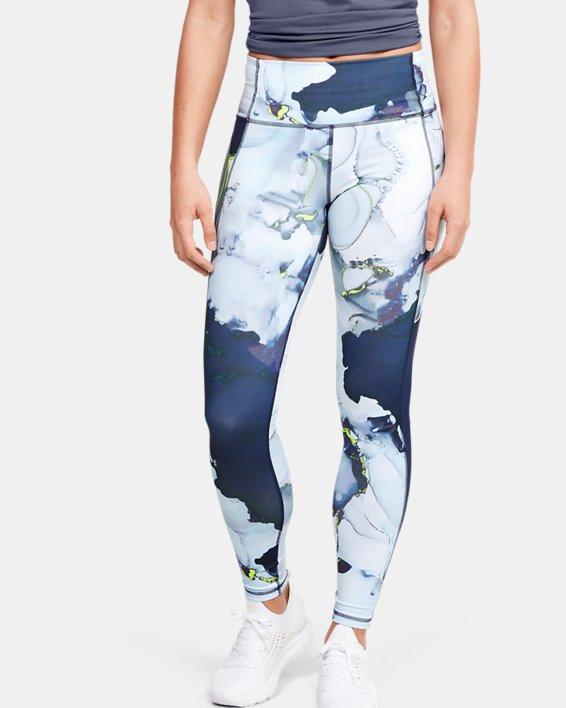 Women's UA Reflect Hi-Rise Printed Leggings, Blue, pdpMainDesktop image number 0