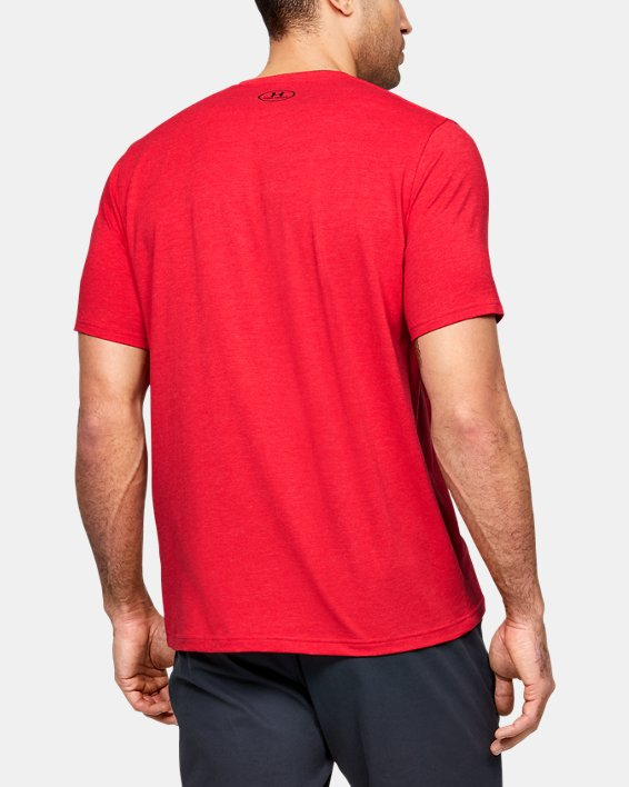 Men's UA Team Issue Graphic T-Shirt, Red, pdpMainDesktop image number 2