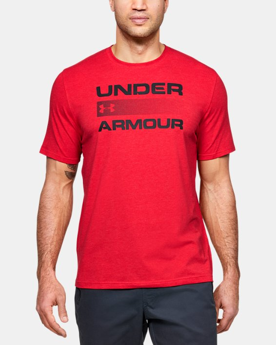 Men's UA Team Issue Graphic T-Shirt, Red, pdpMainDesktop image number 0