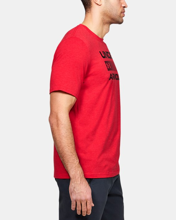 Men's UA Team Issue Graphic T-Shirt, Red, pdpMainDesktop image number 3