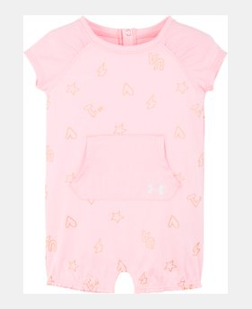 227886f02181 Girls' Infant UA Number 1 Coverall METALLIC GRAPHIC 1 Color Available $23