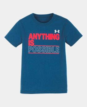 6dd2d908a07e New Arrival Boys' Infant UA Anything Is Possible Short Sleeve 1 Color  Available $16