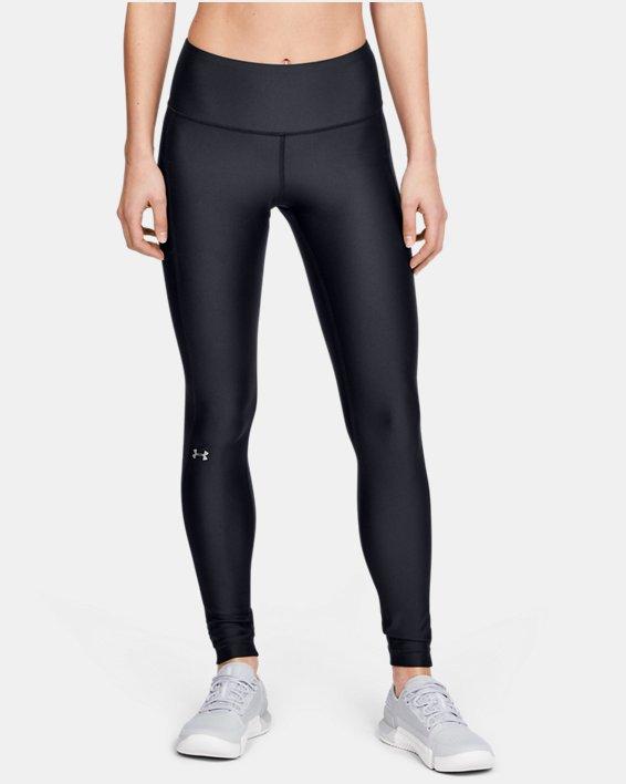 Women's HeatGear® Armour Hi-Rise Leggings, Black, pdpMainDesktop image number 1