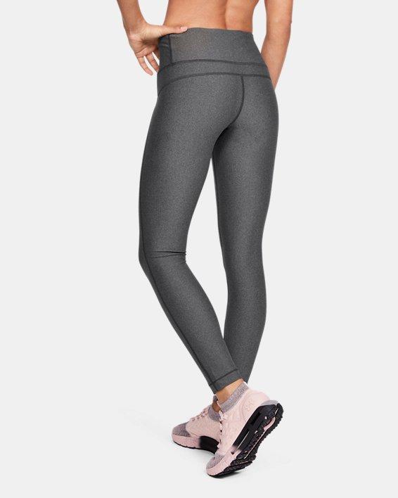 Women's HeatGear® Armour Hi-Rise Leggings, Gray, pdpMainDesktop image number 2