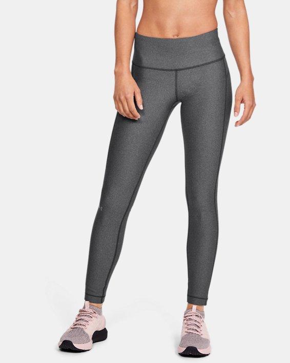 Women's HeatGear® Armour Hi-Rise Leggings, Gray, pdpMainDesktop image number 1