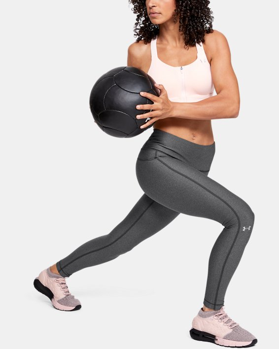 Women's HeatGear® Armour Hi-Rise Leggings, Gray, pdpMainDesktop image number 0