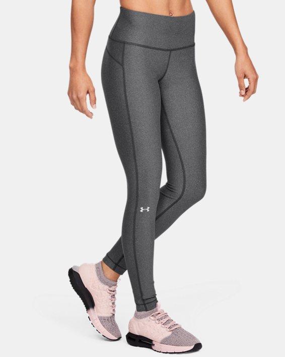 Women's HeatGear® Armour Hi-Rise Leggings, Gray, pdpMainDesktop image number 3