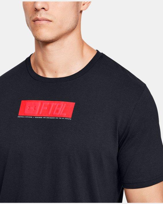 Men's UA FTBL Branded Stack T-Shirt, Black, pdpMainDesktop image number 5
