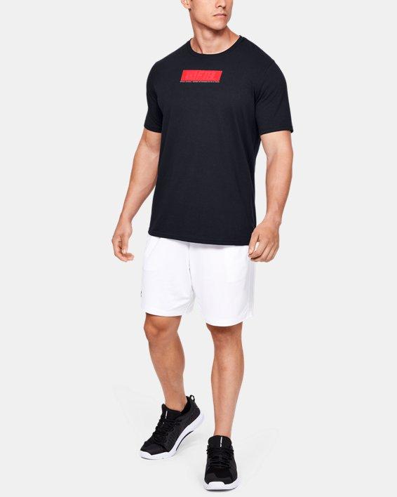 Men's UA FTBL Branded Stack T-Shirt, Black, pdpMainDesktop image number 1