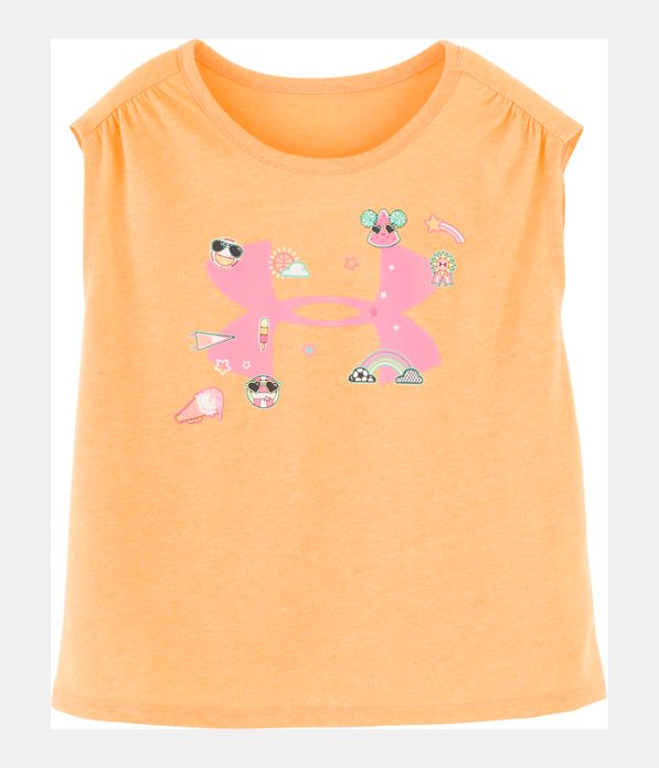 9560575b94 Girls' Infant UA Summer Life Logo Short Sleeve