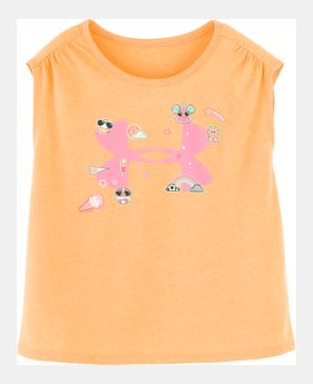 3c2437b54ad6 Girls' Infant UA Summer Life Logo Short Sleeve GLITTER GRAPHIC 1 Color  Available $18