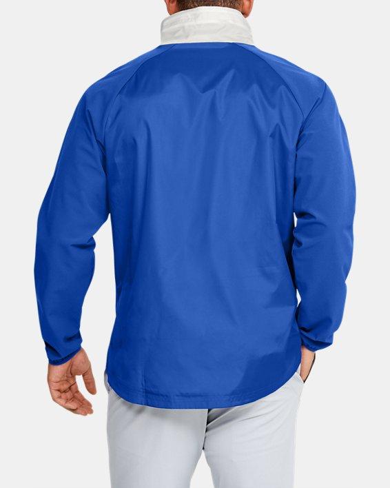 Men's UA Stretch Woven ½ Zip Jacket, Blue, pdpMainDesktop image number 2